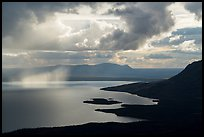 Clouds and showers above Lake Brooks. Katmai National Park ( color)