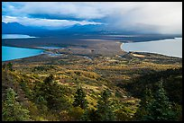 Naknek Lake, Brooks River, and Lake Brooks from above. Katmai National Park ( color)