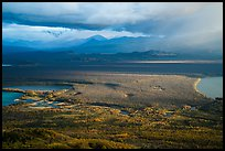 The entire Brooks River from above. Katmai National Park ( color)