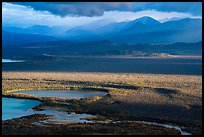 Brooks River and mountains, evening. Katmai National Park ( color)