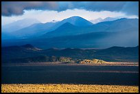 Mountains and clouds in stormy evening light. Katmai National Park ( color)