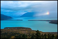 Naknek Lake with rainbowed shaft of light. Katmai National Park ( color)