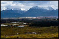 Tundra and snowy mountains near Valley of Ten Thousand Smokes. Katmai National Park ( color)