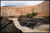 Ukak River at brink of Ukak falls, Valley of Ten Thousand Smokes. Katmai National Park ( color)