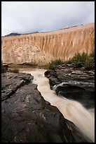 Ukak River and flutted ash cliffs, Valley of Ten Thousand Smokes. Katmai National Park ( color)