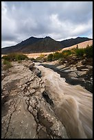 Ukak River flowing on hard rock, Valley of Ten Thousand Smokes. Katmai National Park ( color)