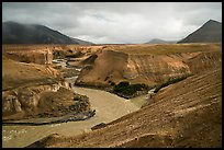 Confluence of the Knife, Lethe, and Windy creek, Valley of Ten Thousand Smokes. Katmai National Park ( color)