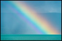 Close-up of rainbow over Naknek Lake. Katmai National Park ( color)