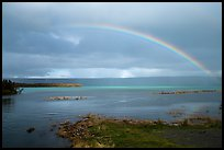 Naknek Lake and rainbow near Brooks River. Katmai National Park ( color)