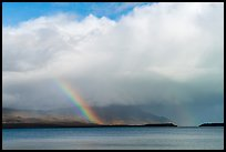 Cloud and rainbow, Naknek Lake. Katmai National Park ( color)