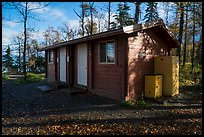 Food and gear cache building, Brooks Camp campground. Katmai National Park ( color)