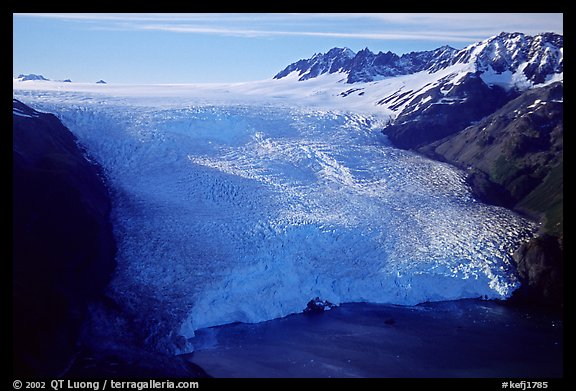 Aerial view of Aialik Glacier front. Kenai Fjords National Park (color)