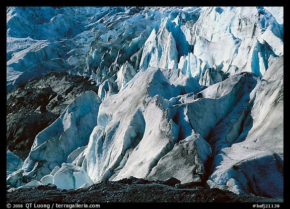 Chaotic forms on the front of Exit Glacier. Kenai Fjords  National Park (color)