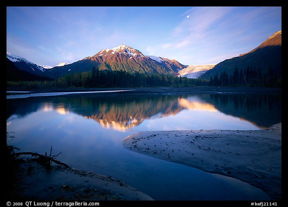 Resurrection River and Exit Glacier, early morning. Kenai Fjords  National Park (color)