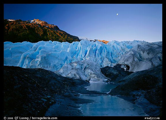 Front of Exit Glacier, sunrise. Kenai Fjords  National Park (color)