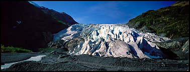 Terminus of Exit Glacier, 2000. Kenai Fjords National Park (Panoramic color)