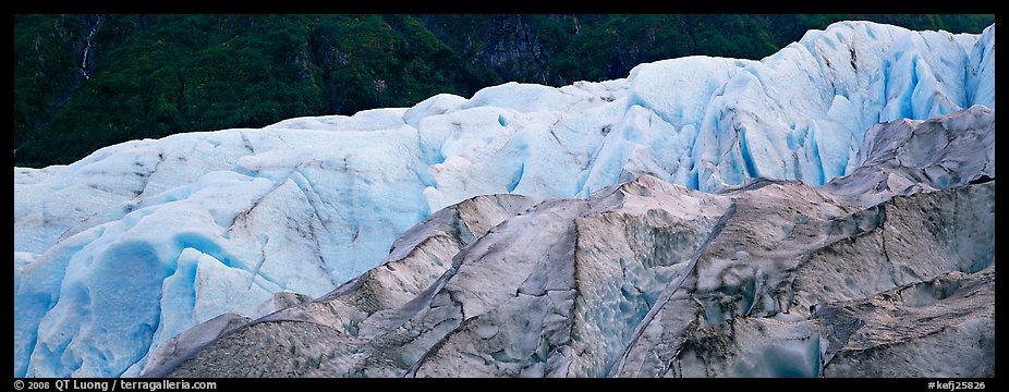Two ice colors on Exit Glacier. Kenai Fjords National Park (color)