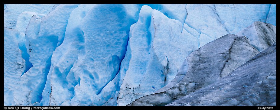Ice close-up, Exit Glacier. Kenai Fjords National Park (color)
