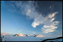 Harding Icefield and clouds, sunset. Kenai Fjords National Park, Alaska, USA.