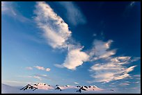 Nunataks and clouds at sunset. Kenai Fjords National Park ( color)