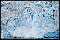 Face of Northwestern Glacier, Northwestern Lagoon. Kenai Fjords National Park ( color)