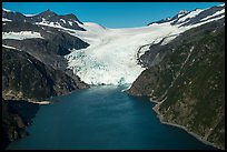Aerial View of Holgate Glacier front. Kenai Fjords National Park ( color)
