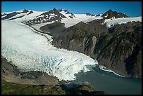 Aerial View of Holgate Glacier. Kenai Fjords National Park ( color)
