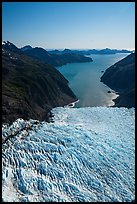 Aerial View of Holgate Glacier above Holgate Arm. Kenai Fjords National Park ( color)