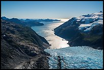 Aerial View of Holgate Glacier and backlit Holgate Arm. Kenai Fjords National Park ( color)