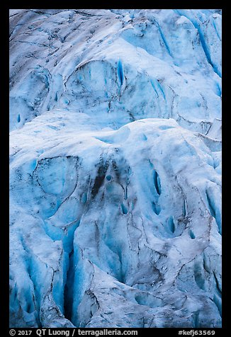 Detail of steep section of Exit Glacier. Kenai Fjords National Park (color)