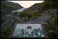 Exit Glacier was here interpretive sign. Kenai Fjords National Park ( color)