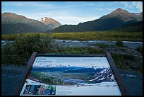 Living Laboratory interpretive sign. Kenai Fjords National Park ( color)