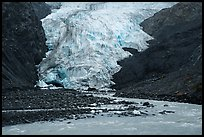 Glacial stream and Exit Glacier terminus, 2016. Kenai Fjords National Park ( color)