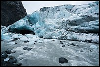 Wall of ice above glacial stream, Exit Glacier, 2016. Kenai Fjords National Park ( color)
