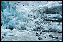 Stream and ice wall, Exit Glacier. Kenai Fjords National Park ( color)
