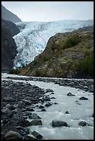 Stream, outwash plain, Exit Glacier. Kenai Fjords National Park ( color)