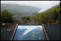 Overflowing Ice interpretive sign. Kenai Fjords National Park ( color)