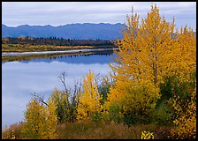 River, Warring Mountains, and fall colors at Onion Portage. Kobuk Valley National Park ( color)