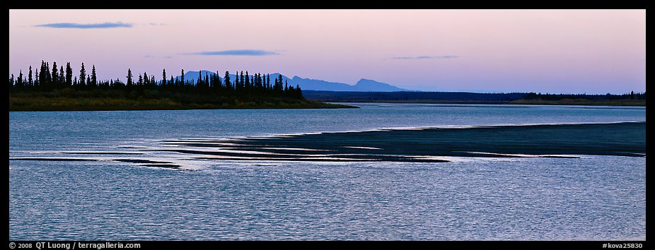 River landscape with ripples on water at dusk. Kobuk Valley National Park (color)