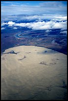Aerial view of the Great Kobuk Sand Dunes. Kobuk Valley National Park, Alaska, USA. (color)
