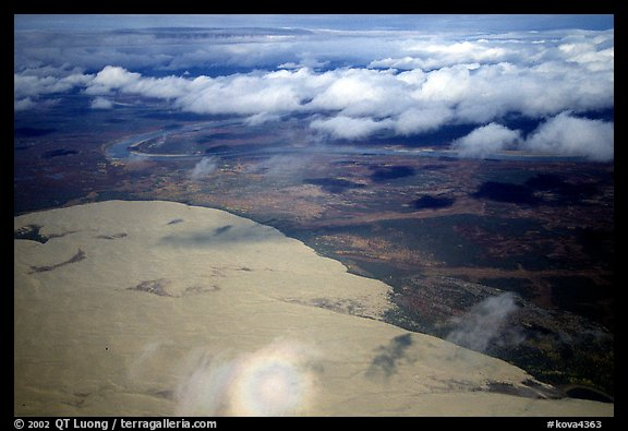 Aerial view of the Arctic dune field. Kobuk Valley National Park (color)