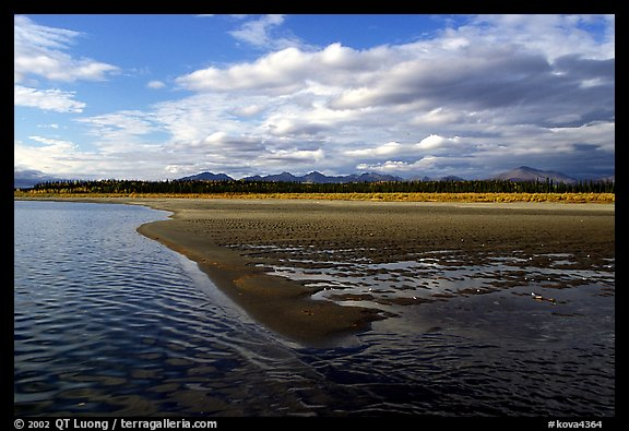Sand bar on the Kobuk River. Kobuk Valley National Park (color)