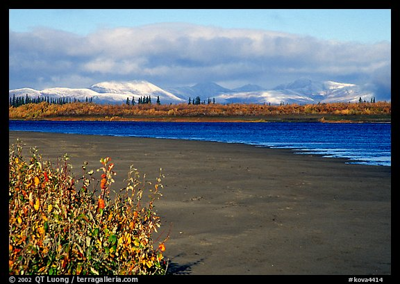Kobuk River and Baird mountains with fresh dusting of snow, morning. Kobuk Valley National Park (color)