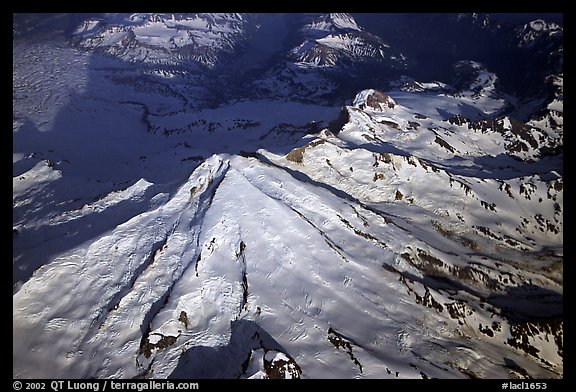 Aerial view of Redoubt Volcano. Lake Clark National Park (color)