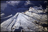 Aerial view of Redoubt Volcano. Lake Clark National Park, Alaska, USA. (color)