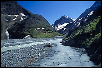 Valley II below the Telaquana Mountains. Lake Clark National Park, Alaska, USA. (color)