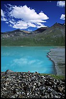 East end of Turquoise Lake. Lake Clark National Park, Alaska, USA. (color)
