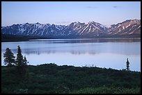 Twin Lakes, sunset. Lake Clark National Park, Alaska, USA. (color)
