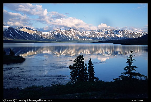 Twin Lakes, evening. Lake Clark National Park (color)