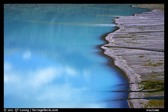 Turquoise Lake and gravel bar. Lake Clark National Park (color)